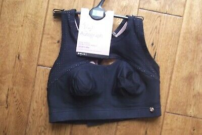 Bnwt   Extra High Impact Non Wired Sports Bra Rosie @Autograph M&S 32C,34B,36A