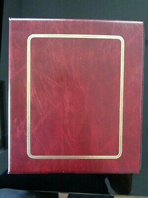 Nice Red Prinz / Hagner Large Capacity 4-Ring Stamp Stock Album - 30 Sheets Vgc