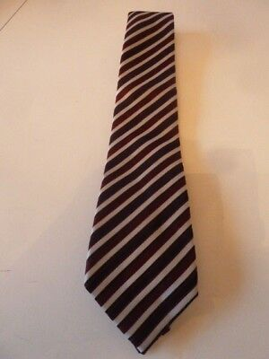 NEXT CLARET / CREAM STRIPED MEN'S TIE[not unlike Harry Potter's School Tie]