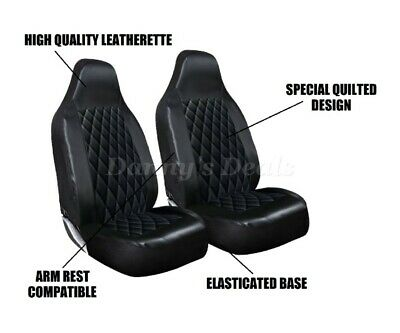 Quilted Leather Car Seat Covers Pair Single Set For Renault Zoe 2012 On