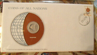 Coins of All Nations Singapore 20 cents 1977 UNC
