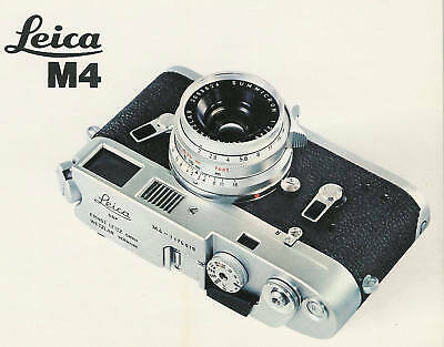 LEICA M4 RANGE-VIEWFINDER CAMERA FACTORY BROCHURE-from 1971