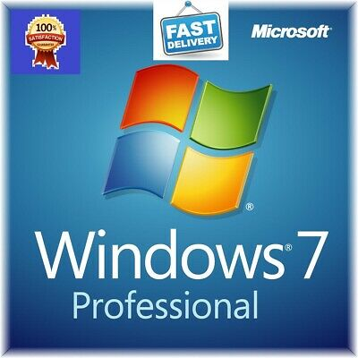 Microsoft Windows 7 Professional PRO 32 OR 64 Full Version SP1 + Product Key pro