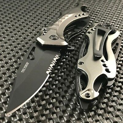 "TAC FORCE 8"" TACTICAL SPRING ASSISTED POCKET FOLDING KNIFE OPEN Blade switch"