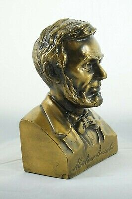 "Vintage Abraham Lincoln Bust USA President Souvenir Cast Metal 6"" Tall"