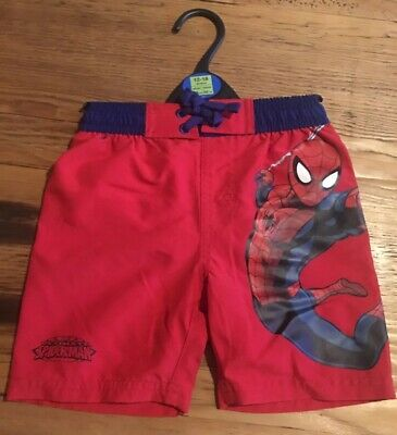 M&S Marks And Spencer Baby Boys Spiderman Swimming Shorts Size 12-18months