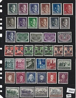 #3947  MH Stamp set / Adolph Hitler & Nazi  Swastika in Occupied Poland  MH