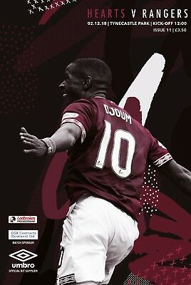 Heart of Midlothian v Rangers 2018/19 brand new football programme