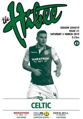 Hibernian v Celtic 2018/19 Scottish Cup brand new football programme