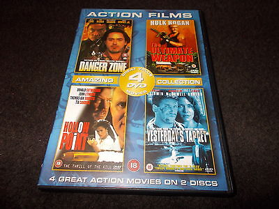 4 Film Movie DVD Danger Zone The Ultimate Weapon Hollow Point Yesterday's Target