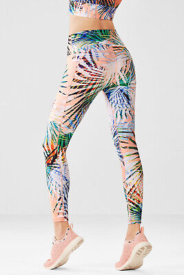 91b909a5b39daf Fabletics High Waisted Printed PowerHold Legging 7/8 Marbella Palm Size  Large