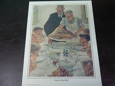 """Norman Rockwell """"four Freedoms"""""""