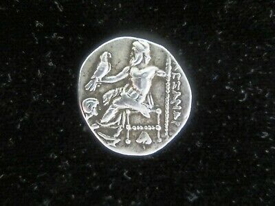 SILVER-Ancient Greek, Hercules, Zeus, Alexander the Great (336-323 BC),Drachm XF