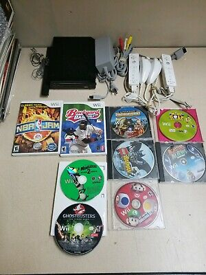 Nintendo Wii RVL-101 Black Console w/ Games Huge Bundle Super Mario + LEGO