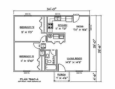 House Plans for 860 Sq. Ft. Investment House Plan