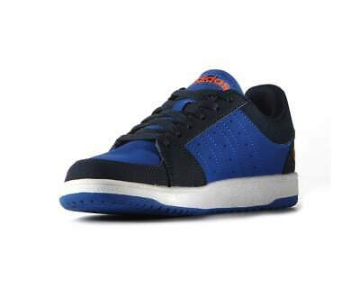 f523f78a5 ADIDAS NEO KIDS Boys VS Hoops Blue Navy Orange Trainers Shoes - EUR ...
