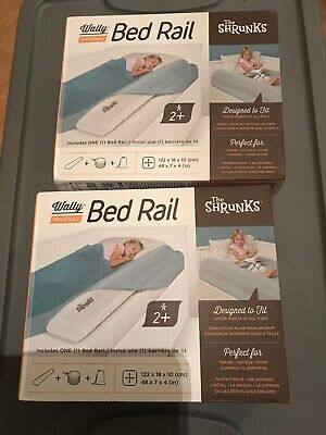 Lot Of 2 NIB The Shrunks Wally Inflatable Bed Rail (ages 2+)