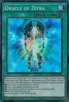 Yugioh Oracle of Zefra Super Rare PEVO-EN050 1st Edition NM