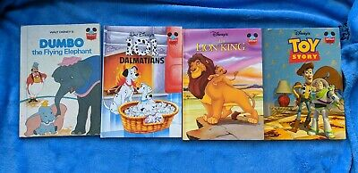 DISNEY 4 Hardcover Book Lot Toy Story Dumbo The Lion King 101 Dalmatians