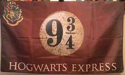 HARRY POTTER HOGWARTS EXPRESS 9 3/4 PLATFORM 3x5 feet BANNER FREE SHIP FROM USA