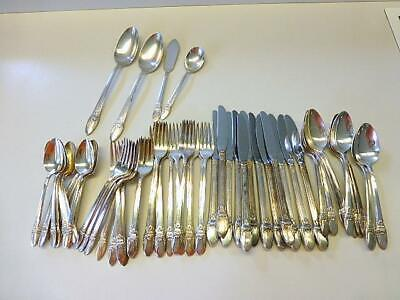 64 Piece FIRST LOVE 1847 Rogers Bros Silverplate Flatware Service for 12+