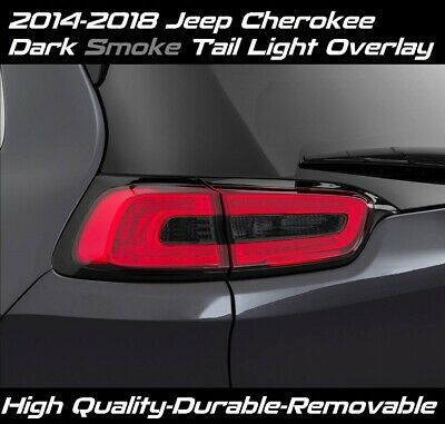 DARK SMOKE INNER TAIL LIGHT OVERLAY VINYL TINT for 2014 - 2018 JEEP CHEROKEE