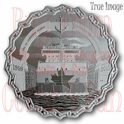 1959-2019 60 Years of Prominence The Saint Lawrence Seaway $30 Pure Silver Coin
