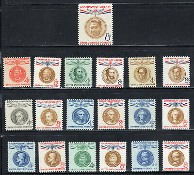 1096/1175 * Champion Of Liberty * COMPLETE SET OF 19 *  SINGLES MNH
