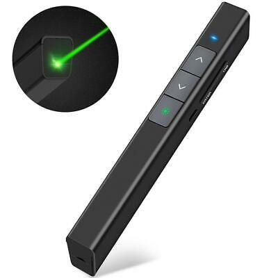 DinoFire Wireless Presenter Rechargeable Presentation Powerpoint Clicker Green L