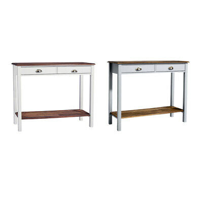 Dressing Telephone Console Table Desk with 2 Drawers Underneath Storage Shelf