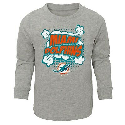 NWOT Miami Dolphins Boys Toddler Long-Sleeve T-Shirt (2T-2) Shirt Jersey Infant