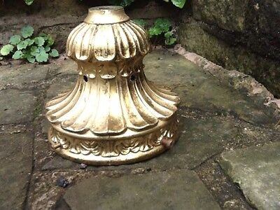 Vintage Hanging Light Shade Gallery Gilded Brass French Rococo