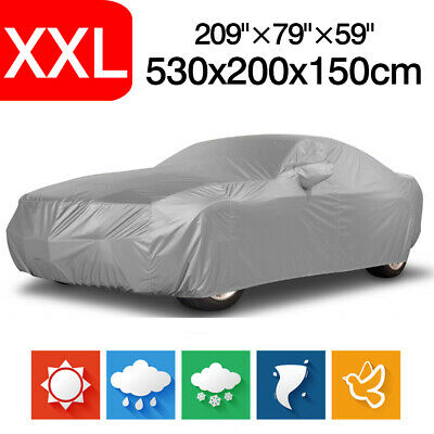 Size XXL Waterproof Full Car Cover For All Sedan Dust Rain Resistant Protection