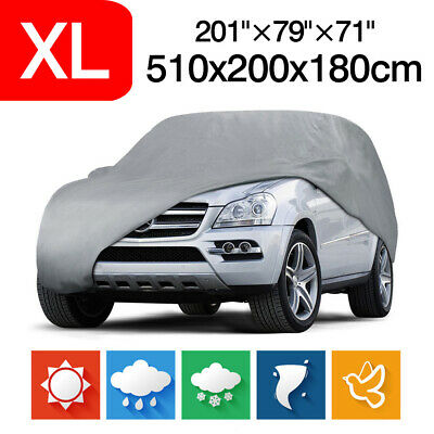 """XL Waterproof 201"""" Full Car Cover Dust Sun Rain Resistant Protection For All SUV"""