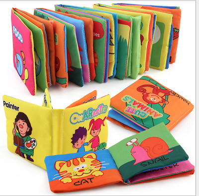 Cloth Book Gift Interactive Soft Books for Newborn Baby Educational Learning Toy