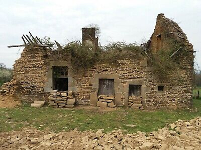 Normandy. Complete wreck with planning permission and half an acre of land