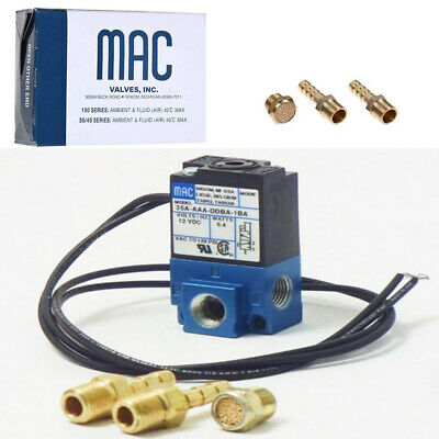 MAC Barbed brass fittings + 3 Port 5.4W Electronic Boost Control Solenoid Valve