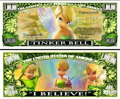 USA United States 1 Million Dollars UNC Banknote - Tinkerbell