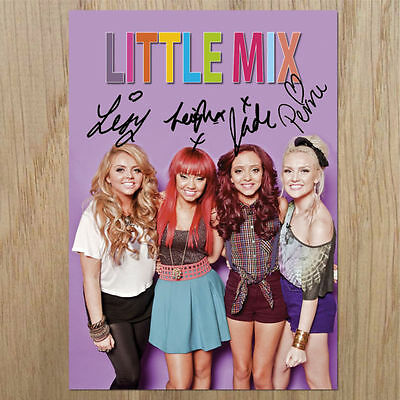 """LITTLE MIX  Signed Photo...LOOK...BIGGER   8"""" X 6"""""""