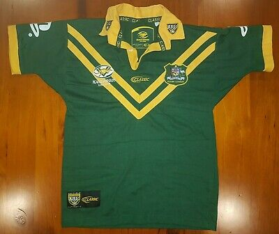 752c7f44685 Ladies Size Small (Youth 16) Short Sleeve Australian Rugby League Classic  Jersey