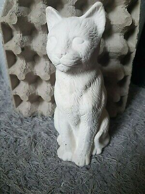 Large Pussy Cat Rubber Latex Mould Mold Ornament Statue Figurine Concrete Use