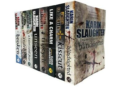 Karin Slaughter Will Trent and Trent County 9 Books Collection Set (Kisscut, Ind