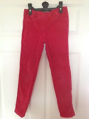 Mini Boden Girls Red Stretch Needlecord Trousers, Age 9