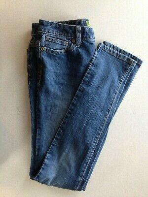 Old Navy Girls Stretch Mid Rise Skinny Leg Adjustable Waist Blue Jeans Size 10