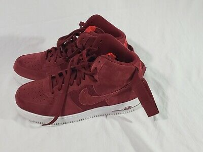 cheaper 85396 d4450 Nike Air Force 1 High 07 University Red White Suede 315121-610 Size 10