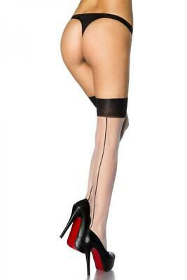 VARIOUS Stockings mit Naht