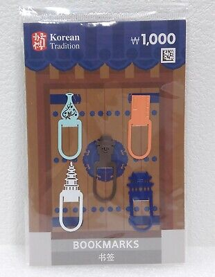 [New] Korean Tradition / 1010565 / Korean BOOKMARKS, Set of 5, Stainless