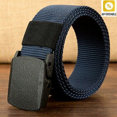 Belts Men Military Army Adjustable Outdoor Travel Tactical Waist Plastic Buckle