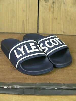 Lyle and Scott Wallace Navy Pool Sliders