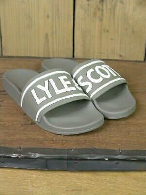 Lyle and Scott Wallace Grey Pool Sliders